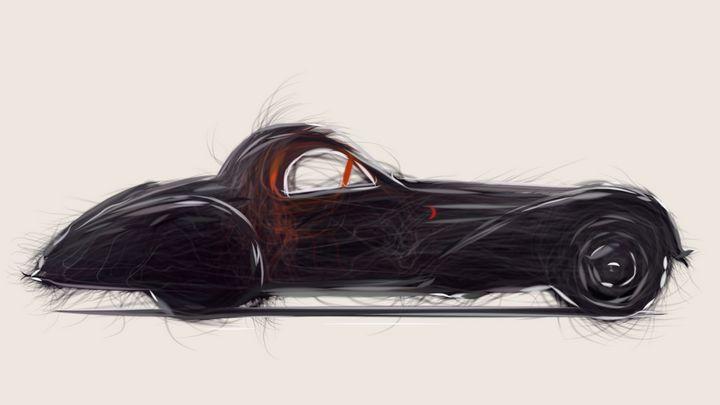 1937 Bugatti Type 57S Coupe 16 - CarsToon