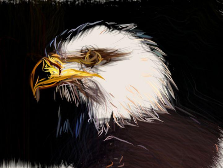 Adler Head Drawing - CarsToon