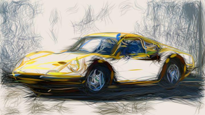 1966 Ferrari Dino 206 GT ID 381 - CarsToon