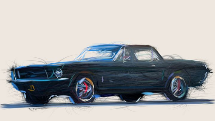 1967 Ford Mustang ID 480 - CarsToon