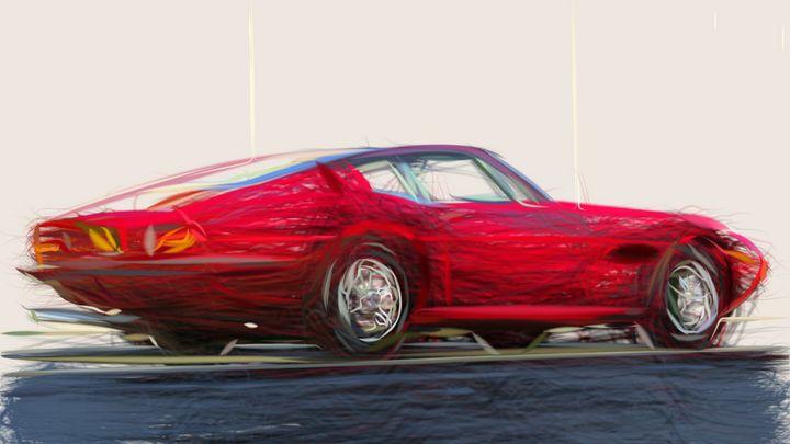 1967 Maserati Ghibli ID 485 - CarsToon