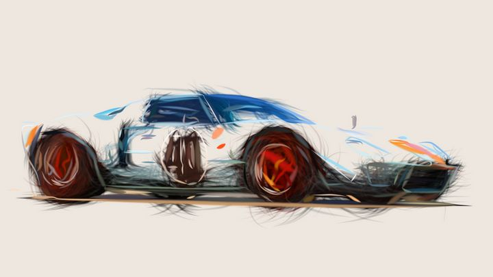 1968 Ford GT40 Le Mans ID 560 - CarsToon