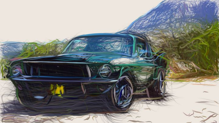 1968 Ford Mustang GT 390 ID 564 - CarsToon
