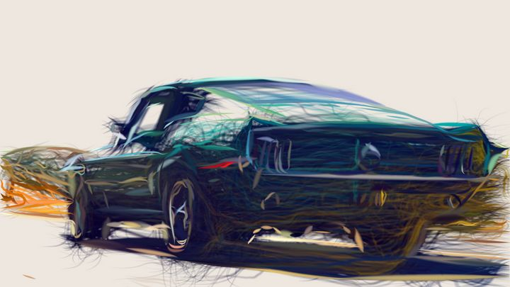 1968 Ford Mustang GT 390 ID 566 - CarsToon