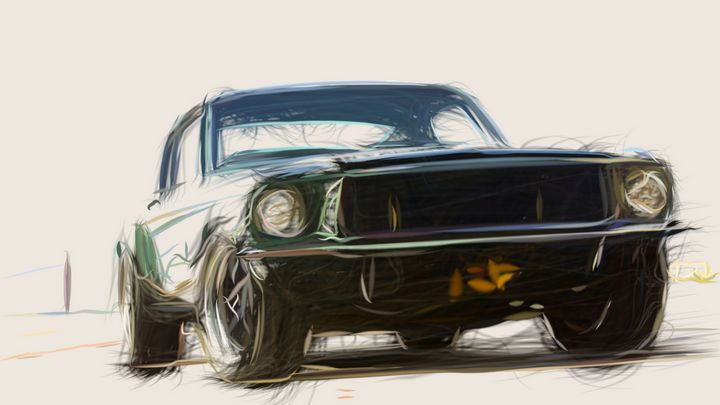 1968 Ford Mustang GT 390 ID 567 - CarsToon