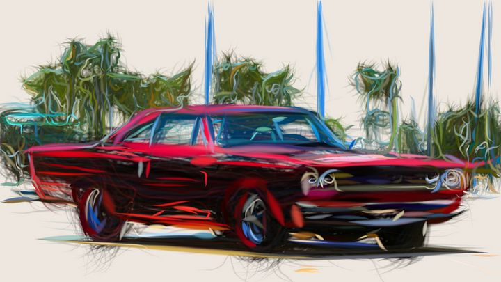 1968 Plymouth Road Runner 426 Hemi C - CarsToon