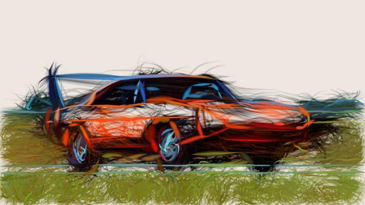 1969 Dodge Charger Daytona ID 623 - CarsToon