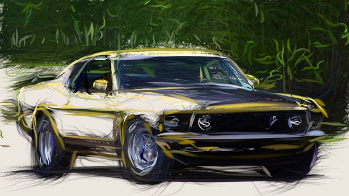 1969 Ford Mustang Boss 302 ID 668 - CarsToon