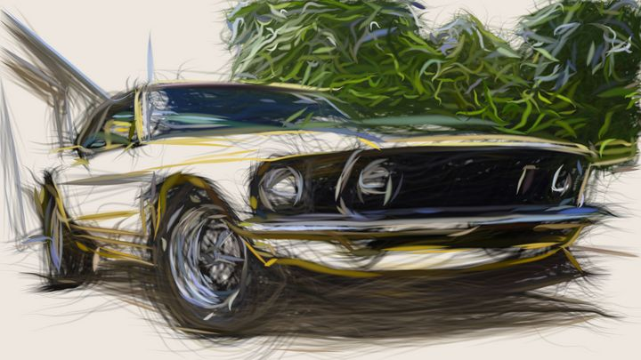 1969 Ford Mustang Boss 302 ID 670 - CarsToon