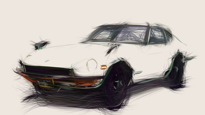 1969 Nissan Fairlady Z432 Id 694 Carstoon Digital Art