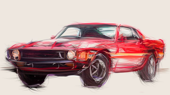 1969 Shelby GT500 ID 726 - CarsToon