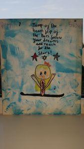 Cute gymnast painting inspire