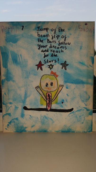 Cute gymnast painting inspire - Pinkshell10