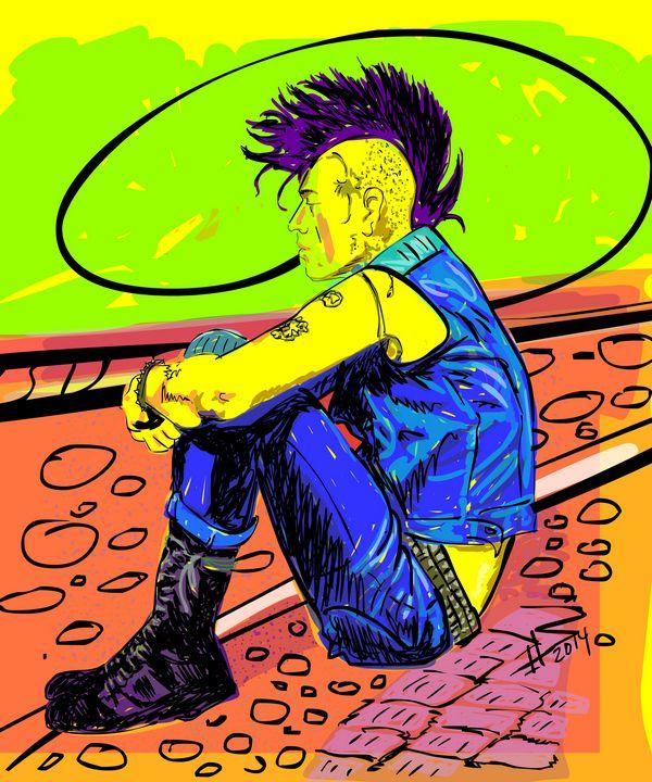 Punk Lives - Cartoonqueen