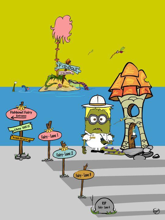 Fishbowl Fairy Lanes - Cartoonqueen