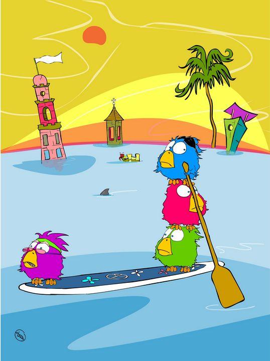 The Paddle Birdz - Cartoonqueen