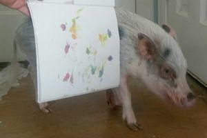 Little Piggy Tornado Painting 45
