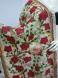 Hand Embroidery Tussar Silk shawl