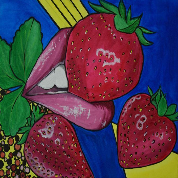 Strawberry Lips - Art by Maricruz