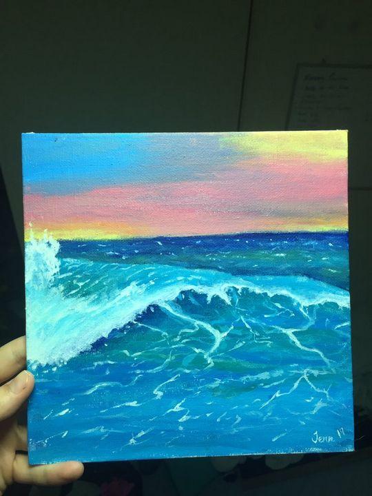 Wave on Sunset - JennsArts