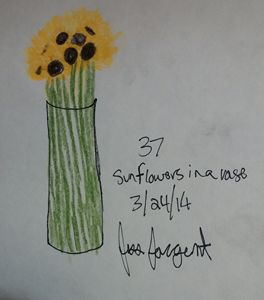Sunflowers in a Vase 2