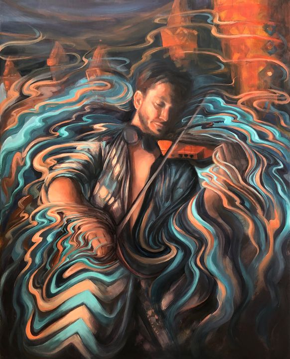 Violin Wizard - Nevine Fathy Art
