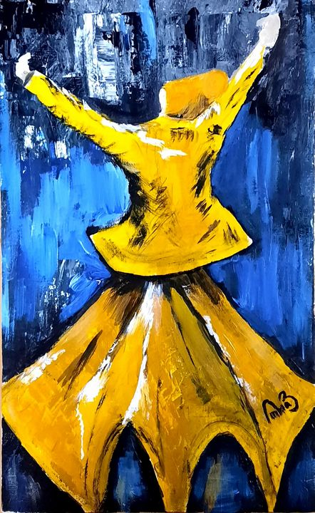 Whirling sufi - Life On Canvas