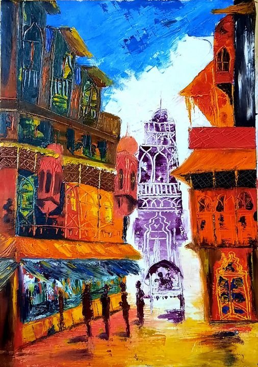 Old city - Life On Canvas