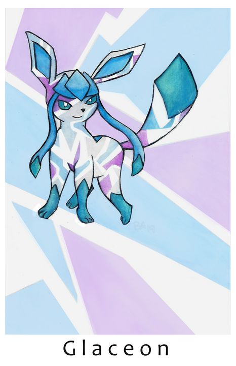 Glaceon Print - Happy Accidents Art