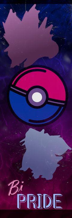 Bi-Pride Pokemon Bookmark - Happy Accidents Art