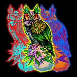 Great Horned Cannabis Owl Edit