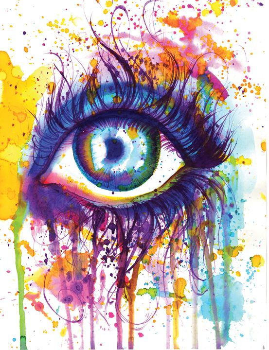 Watercolor Eye - Krisi Konvict