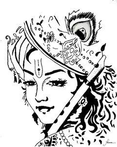 Krishna Stencil