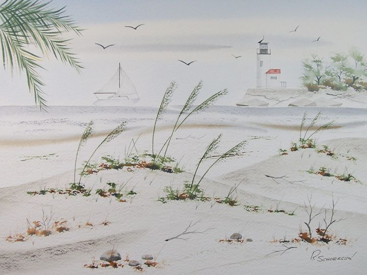 Sail Boat & Sea Oats I - Richard & Joan schoessow