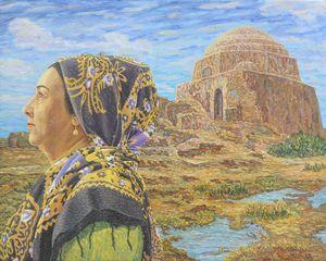 Turkmen woman.