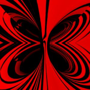 Digital Image Red Butterfly