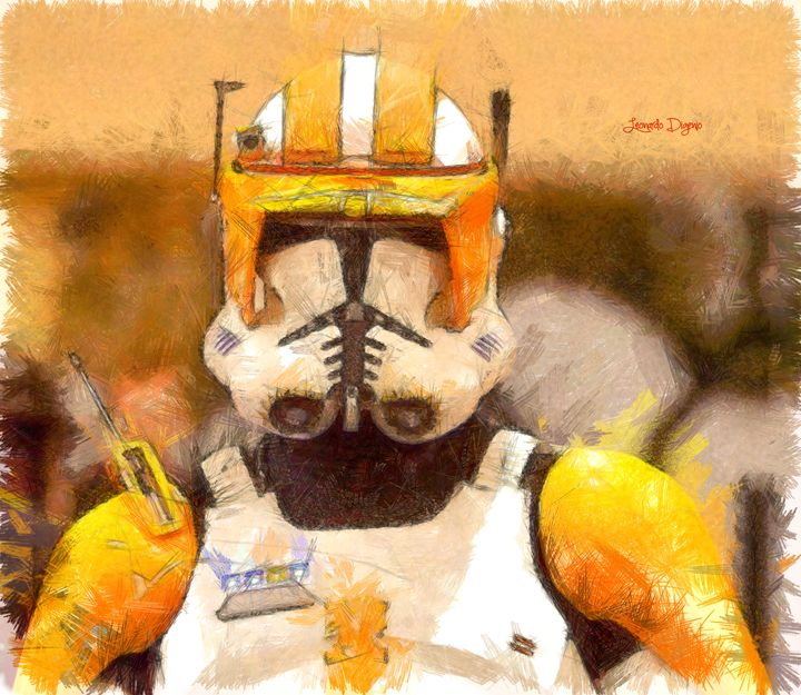 Clone Trooper Commander (Pencil Styl - Leonardo Digenio