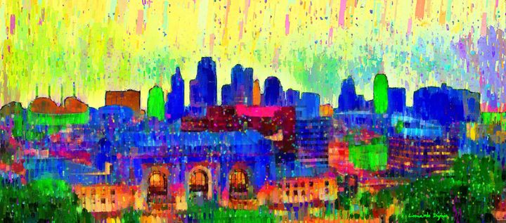 Kansas City Skyline 208 - Leonardo Digenio