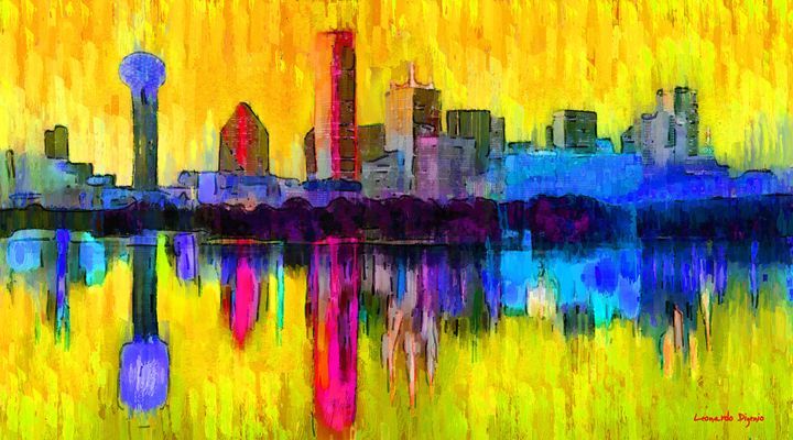 Dallas Skyline 3 - Leonardo Digenio