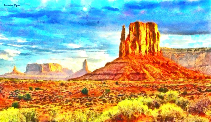 New Mexico Beautiful Desert - Leonardo Digenio