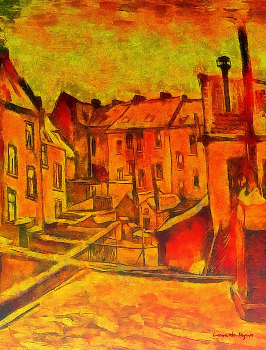 Backyards Of Old Houses In Antwerp I - Leonardo Digenio