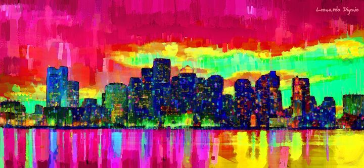 Boston Skyline 102 - Leonardo Digenio