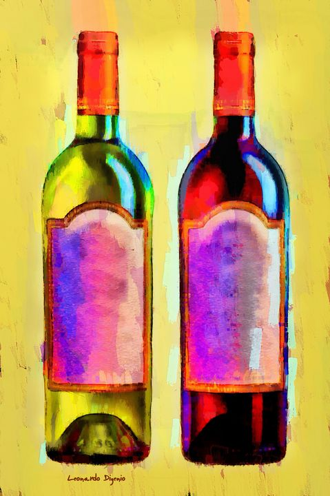 Red And White Wine Yellow - Leonardo Digenio