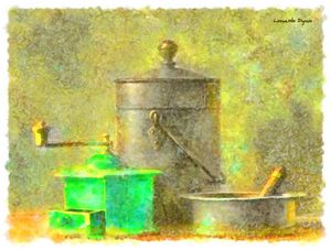 Coffee Mill Watercolor
