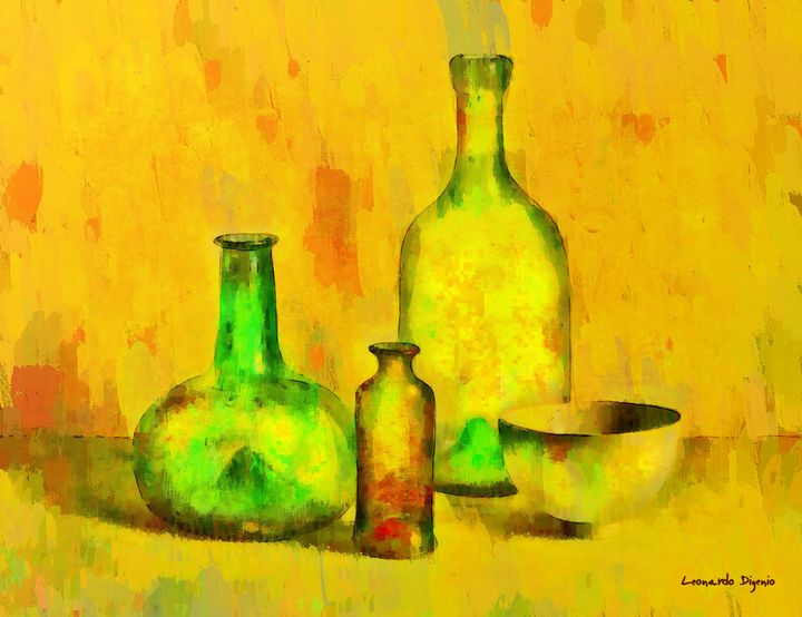 Various Ancient Bottles - Leonardo Digenio