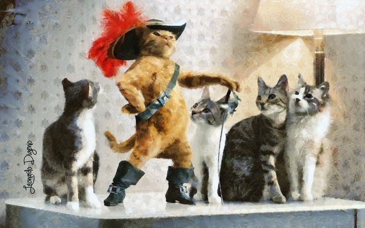 Mighty Cat With Boots - Leonardo Digenio