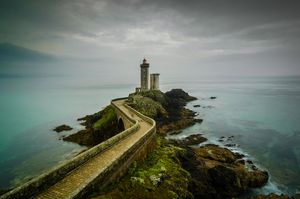 Lighthouse In Cloudy Day