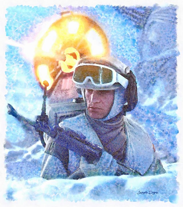 Star Wars Battle Of Hoth (Watercolor - Leonardo Digenio