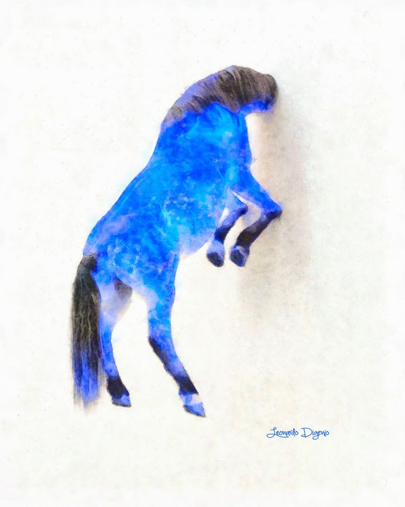 Walled Blue Horse - Leonardo Digenio