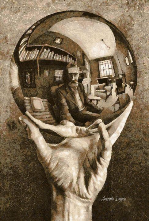 Self-Portrait In Spherical Mirror By - Leonardo Digenio